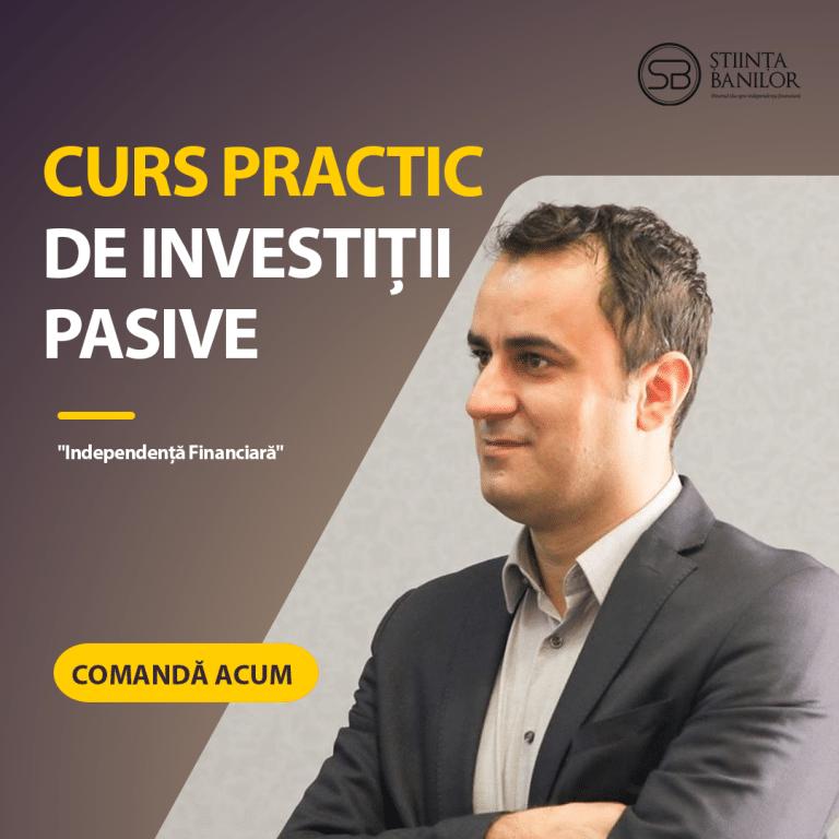 Imagine promovare Curs practic de investiții pasive