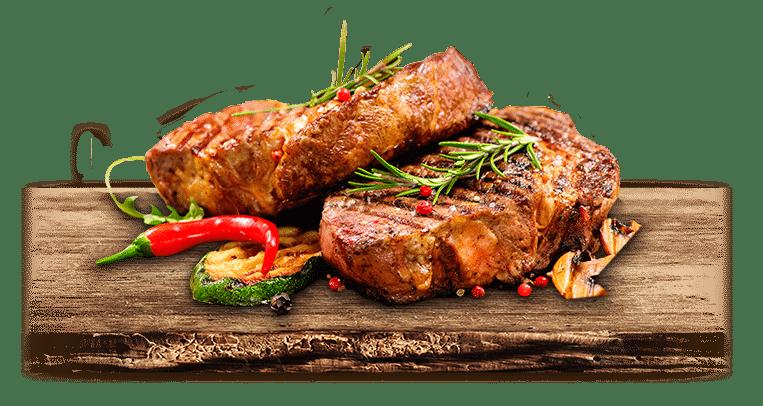 Sursa de proteine. Friptura asezata pe platoru de lemn